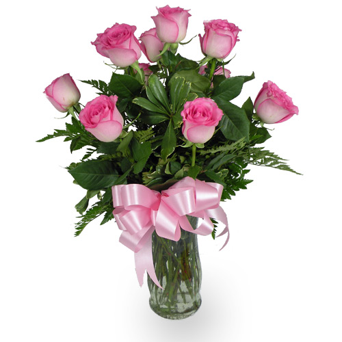 Send a gorgeous dozen of our finest Pink Roses to your gorgeous love.<br/><br/>
